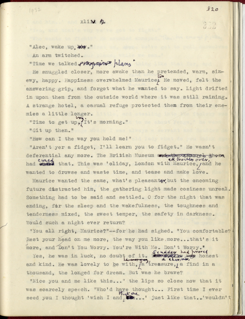 Photograph of typescript draft of Maurice by E.M Forster