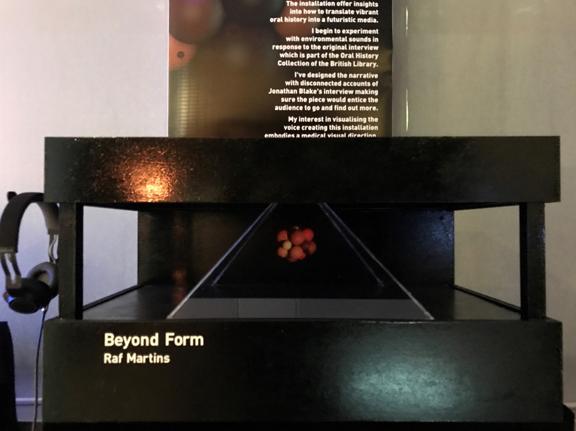 3D hologram as designed by Raf Martins