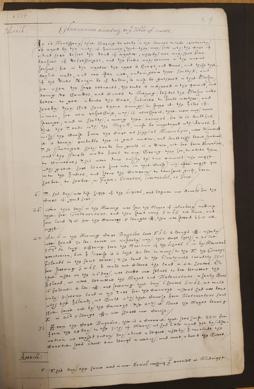 Paragraph commenting on the table of observations