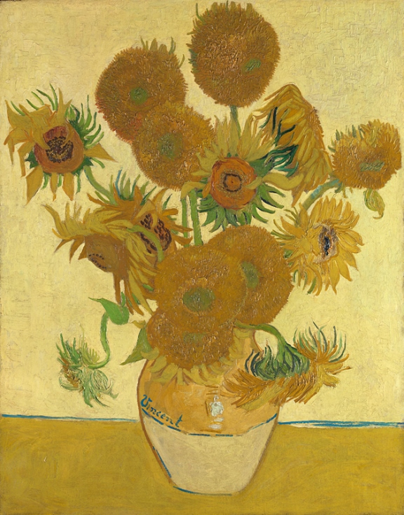 Vincent van Gogh's 'Still Life: Vase with Fourteen Sunflowers', painted in 1888