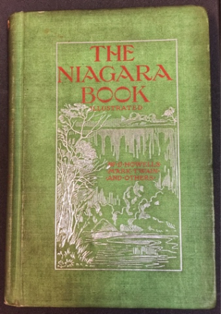 Colour photo of the green front cover of the book, The Niagara Book'