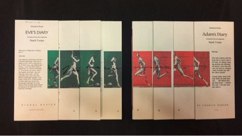 Photo of the book spread open to reveal the sequence of illustrations