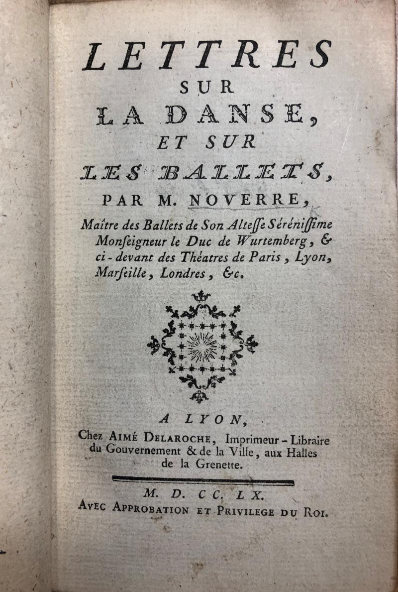 Title page of Lettres sur la danse  et sur les ballets
