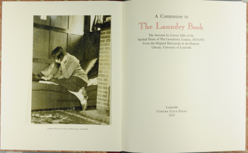 Photographs of the Laundry Book and its Companion, now in the Library's possession.
