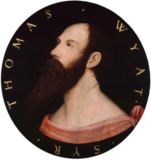 A portrait of Sir Thomas Wyatt.