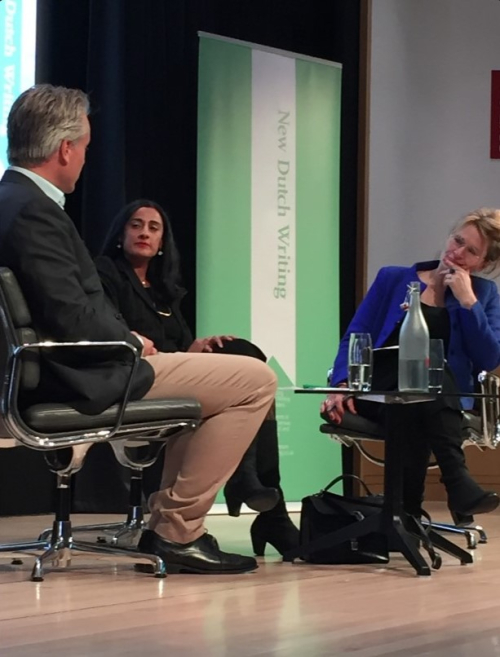 Panel 1: left to right Joris Luyendijk, Naema Tahir, Henriette Louwerse