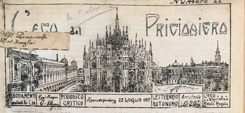 Newspaper masthead picture of Milan Cathedral