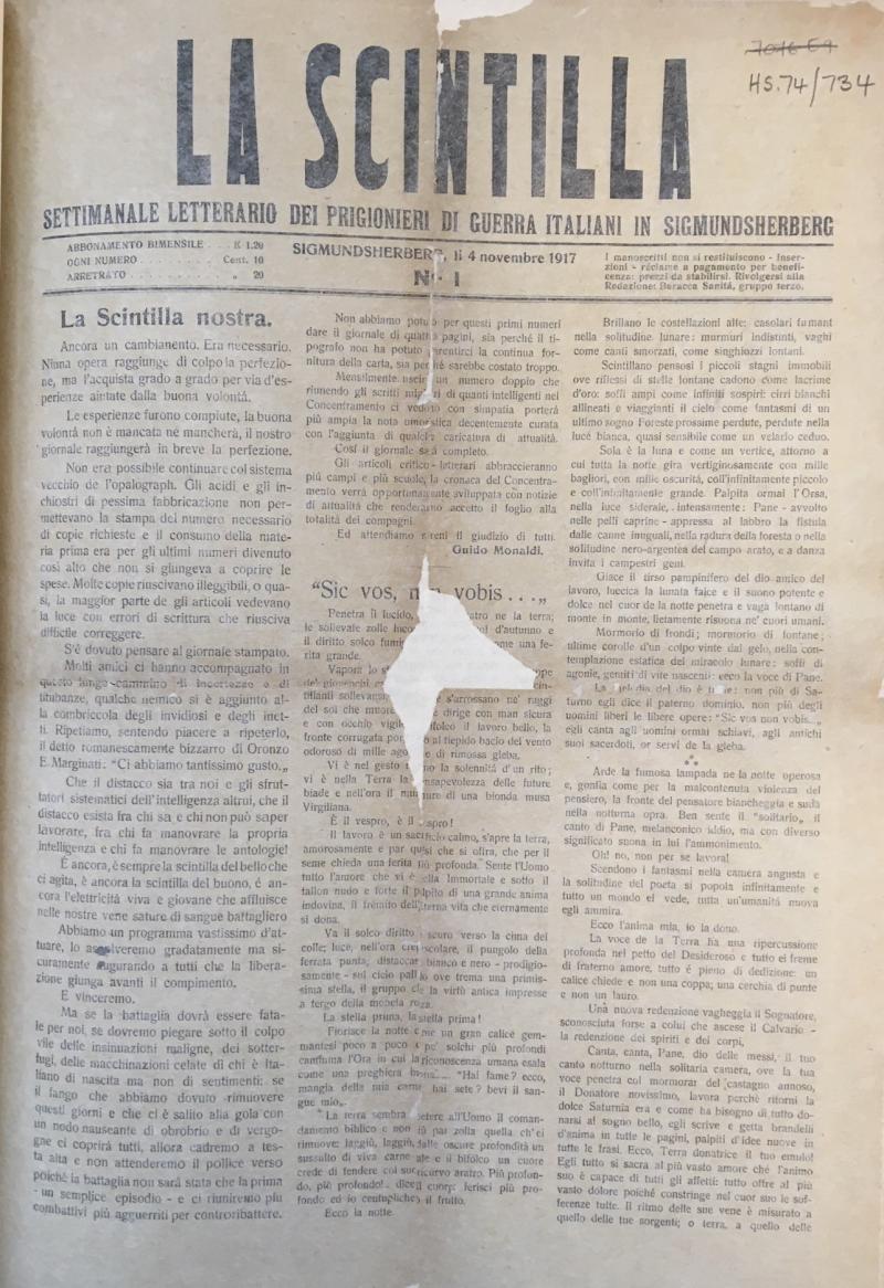La Scintilla 4 Nov 1917