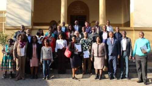 Fig. 1. After discussing how to overcome some of the disadvantages of the digital divide: Participants in the Innovation Labs in Cultural Heritage Institutions which was hosted on 1 August, 2019 by the Livingstone Museum
