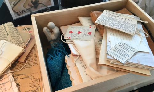 Photograph showing miscellaneous contents of the Ephemera Storytelling Box