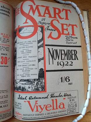 Photograph of Smart Set: Hammett's first story appeared in The Smart Set magazine in November 1922