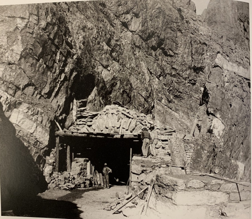 Entrance to a 19th-century Italian mine