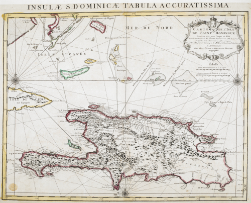 Map of Saint-Domingue 1722