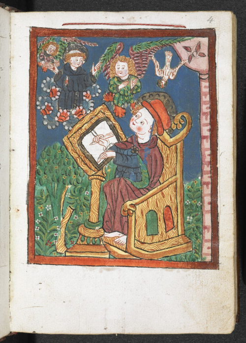 St Bonaventure at his writing desk