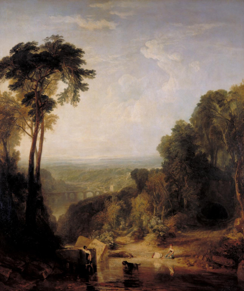 Crossing The Brook - painting by Turner