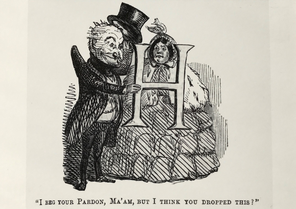 Illustration from 'Poor Letter H: its use and abuse' (1854)