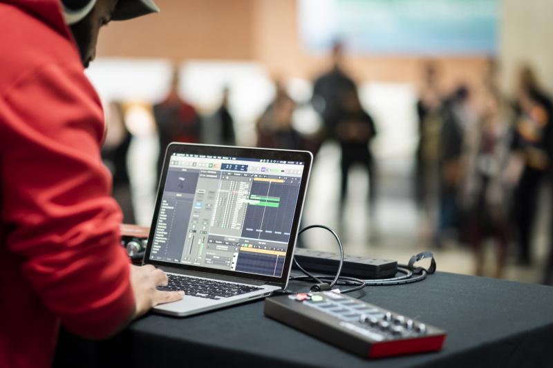 AWATE using Logic Pro with an Akai MIDI controller.