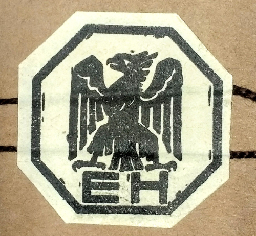 Ebba Holm's initials underneath an eagle