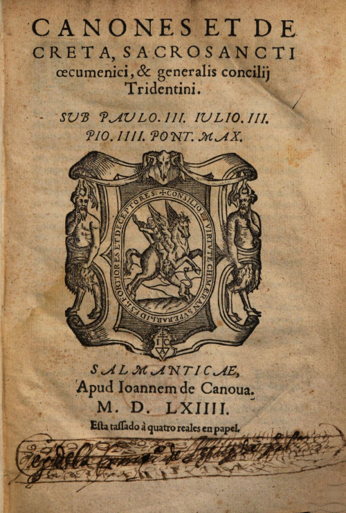 Title-page of Index Librorum Prohibitorum from 1564
