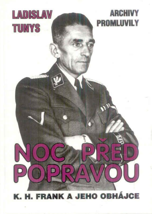 Cover of Noc pred popravou with a photograph of Karl Hermann Frank