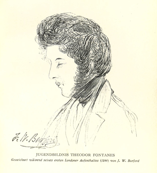 Portrait of Theodor Fontane in 1844