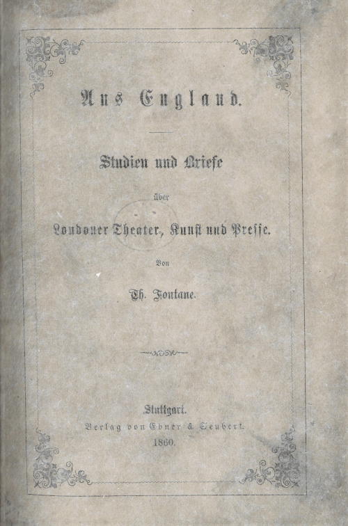 Cover of 'Aus England'