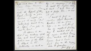 A handwritten letter from Ada Lovelace to Charles Babbage