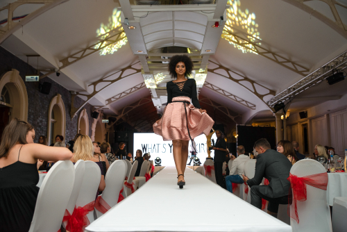 What's Your Skirt? collection showcased on a runway
