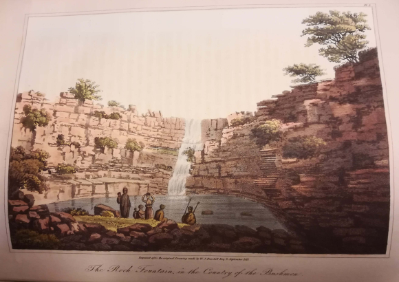 The Rock Fountain in the country of the Bushman