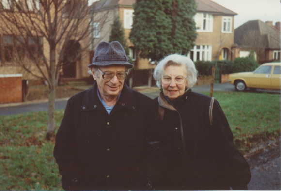Trude Levi and her husband Franz, London, 1989. Courtesy of Trude Levi.