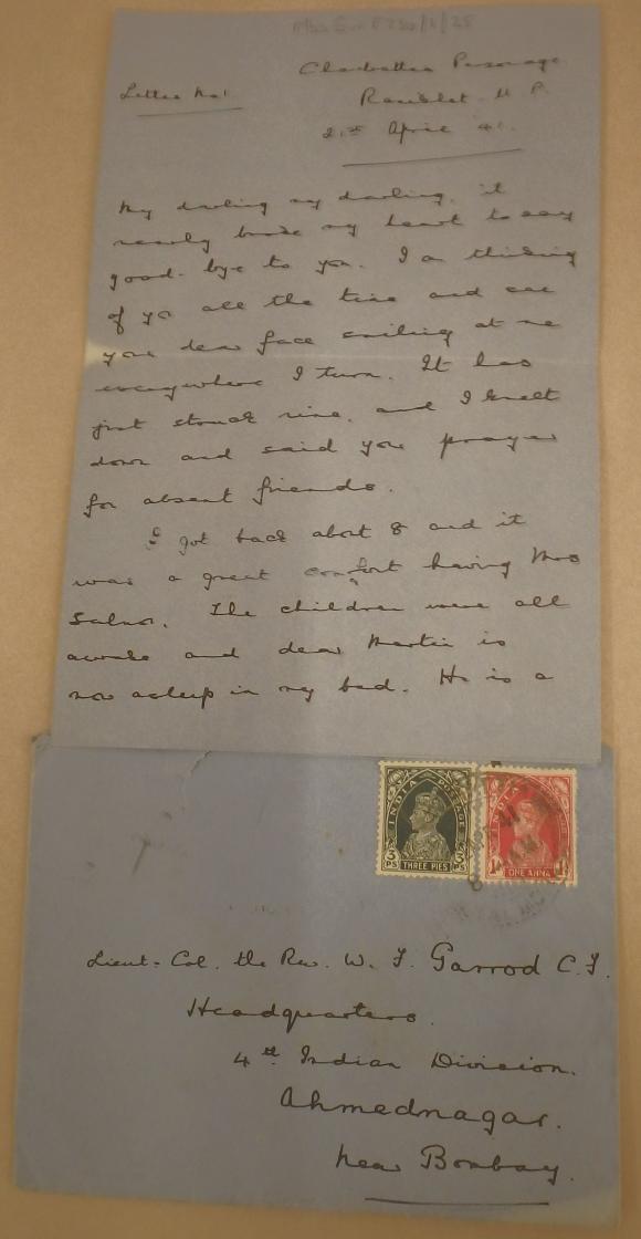 Letter from Isobel Garrod  April 1941