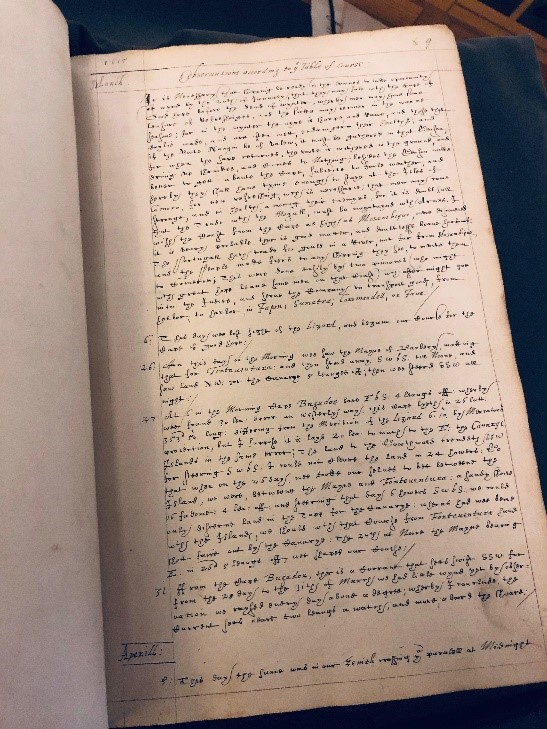 Sir Thomas Roe's handwritten memoirs