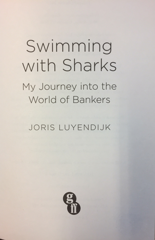 Title page Swimming With Sharks