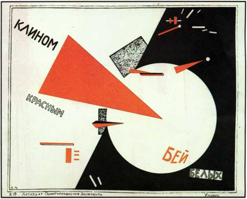 El Lissitzky  'Beat the Whites with the Red Wedge' (1919)