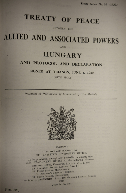 Treaty of Peace between the Allied and Associated Powers (Trianon)