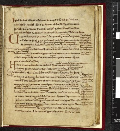 A medieval manuscript page