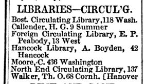 E Peabody library