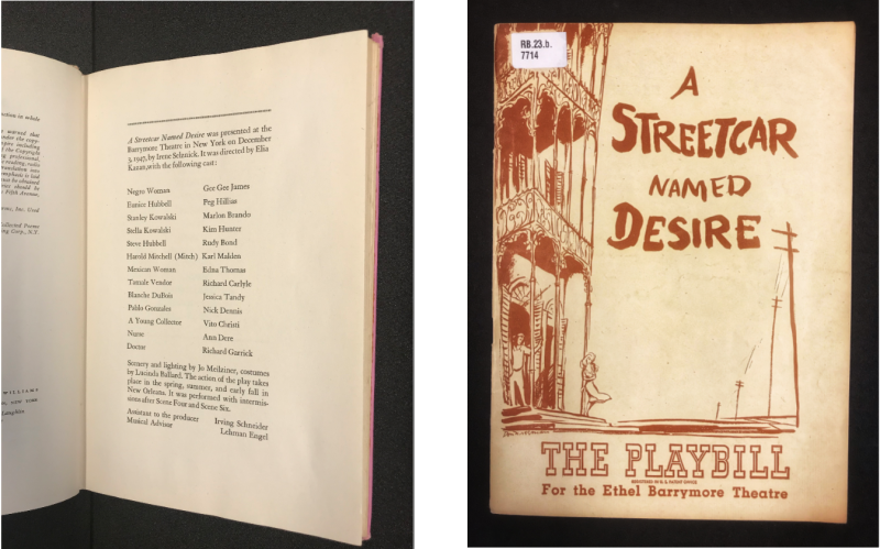 Image 5_Playbill and cast list