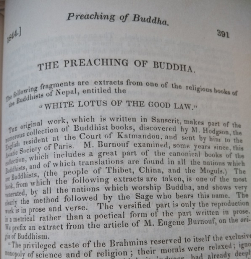 Black and white text of The Preaching of the Buddha article in The Dial