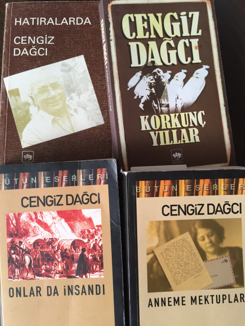 Covers of four books by Cengiz Dagci