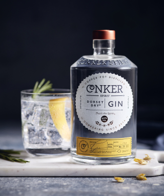 Conker Spirit's bottle of gin, product example.