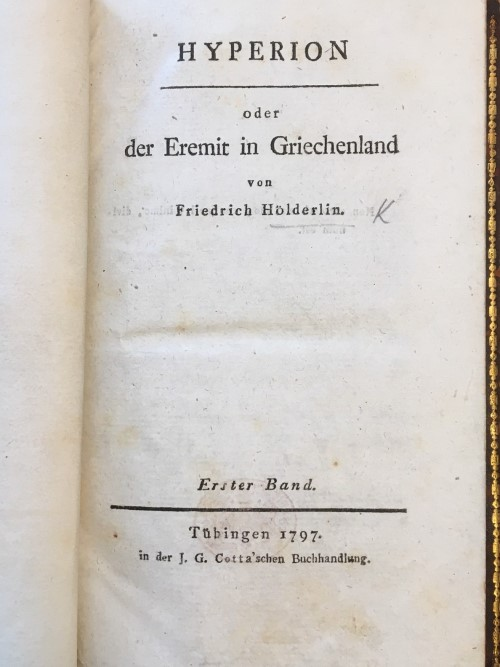 Title-page of the first volume of 'Hyperion'