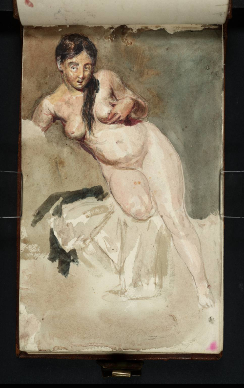 Life study of a female figure, possibly Sarah Danby, from one of Turner's notebooks