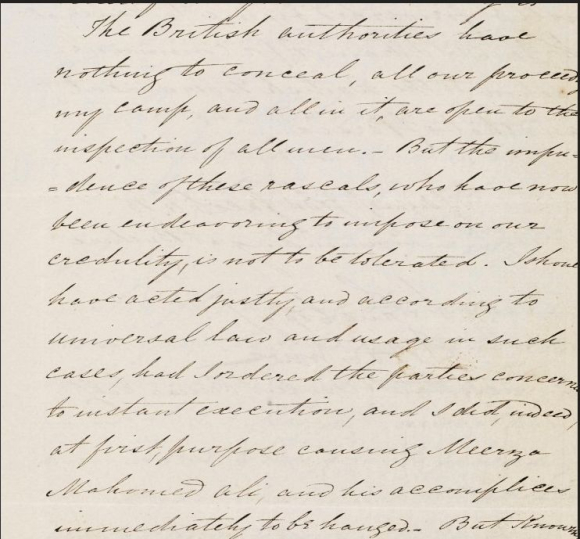 Extract from Jacob's letter to the Persian Commander-in-Chief