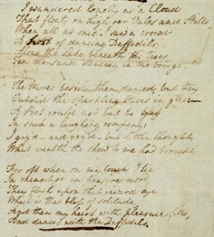 A handwritten poem on a piece of paper