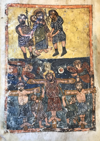Jesus on the Cross from a 10th century manuscript