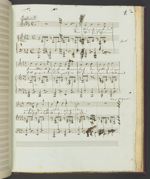 Autograph manuscript with music by Prince Albert