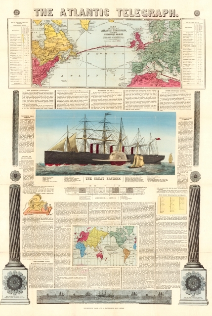 Bacon's chart of the Atlantic Telegraph