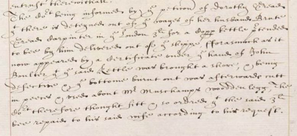 Petition of Dorothy Gread 3 November 1630
