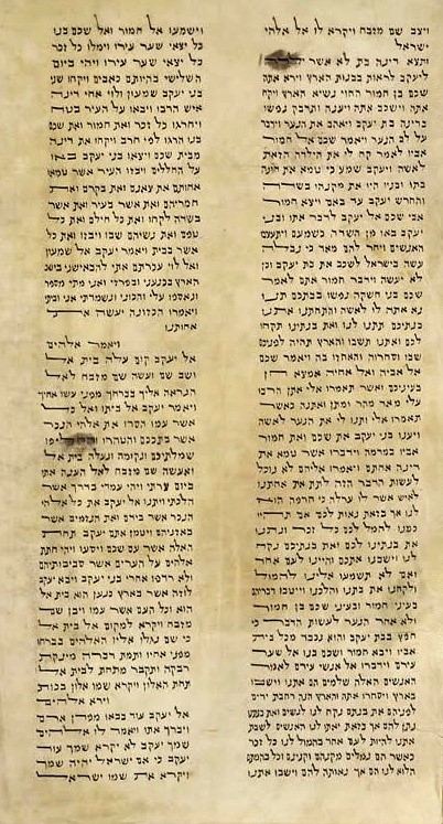 Detail of the text of the Kaifeng Torah Scroll